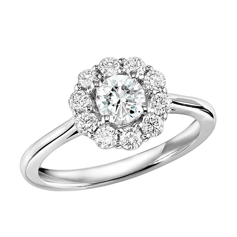 Mixables 14K Diamond Engagement Ring 1/2 ctw With 1/2 ct Center