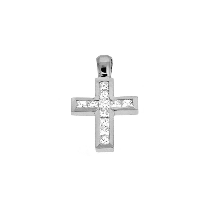 S. Kashi  & Sons White Gold Cross Charm