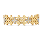 Roberto Coin Wide Link Bracelet With Diamonds