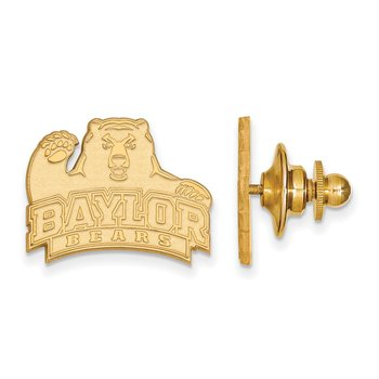 Gold-Plated Sterling Silver Baylor University NCAA Lapel Pin