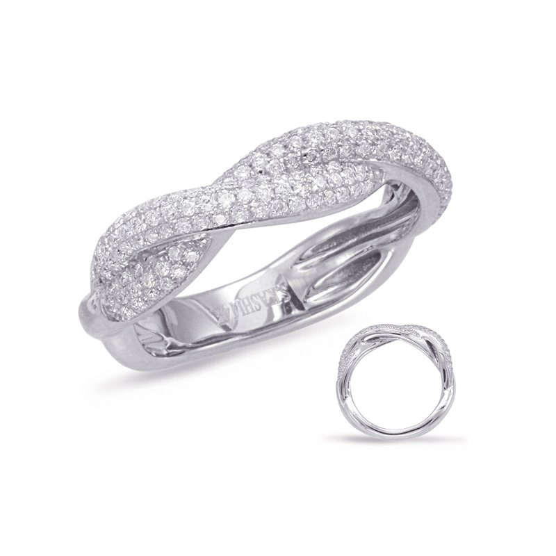 S. Kashi & Sons Bridal White Gold Diamond Fashion Ring