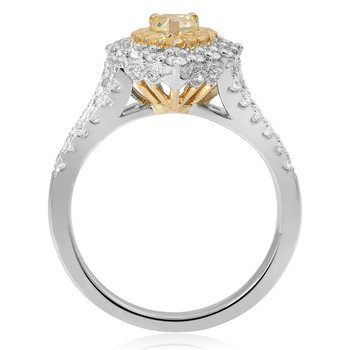 Pear-shaped Split Shank Diamond Ring