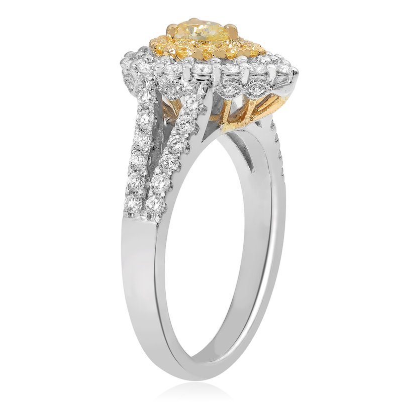 Roman & Jules Pear-shaped Split Shank Diamond Ring