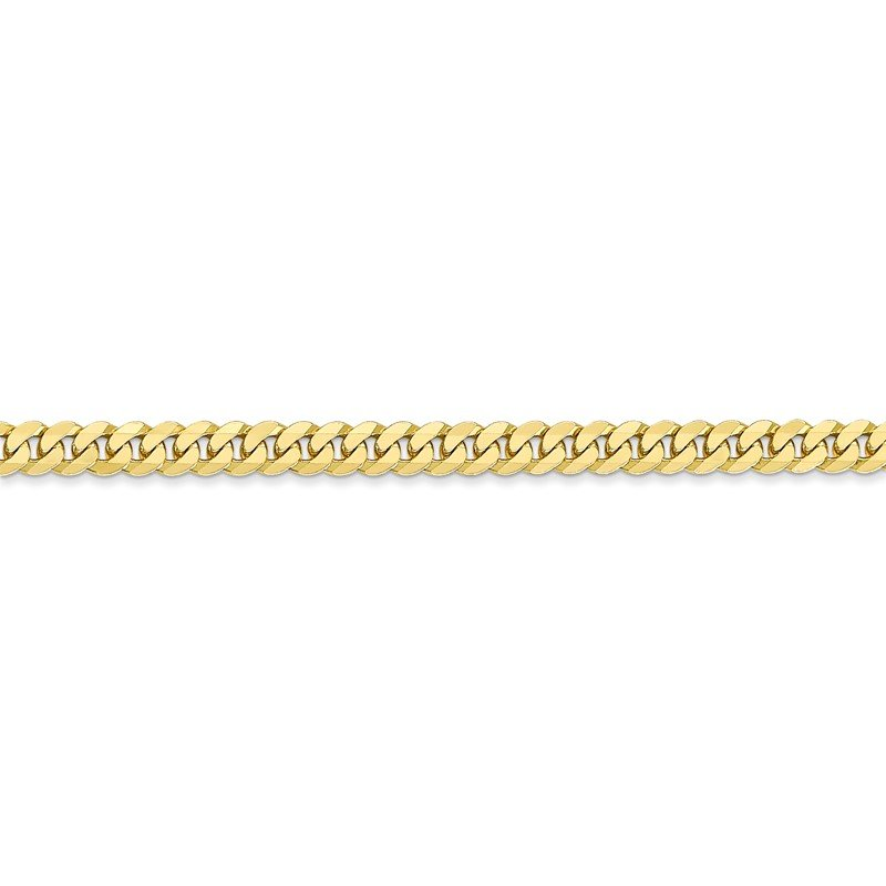 Quality Gold 10k 3.9mm Flat Beveled Curb Chain