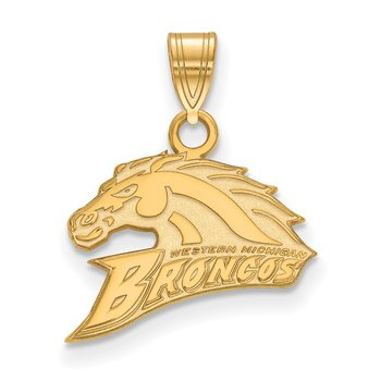 Gold-Plated Sterling Silver Western Michigan University NCAA Pendant