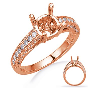 Rose Gold Diamond Engagement Ring