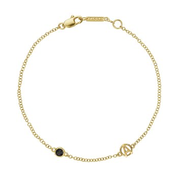 The Gemstone & Monogram Bracelet w/ Black Onyx