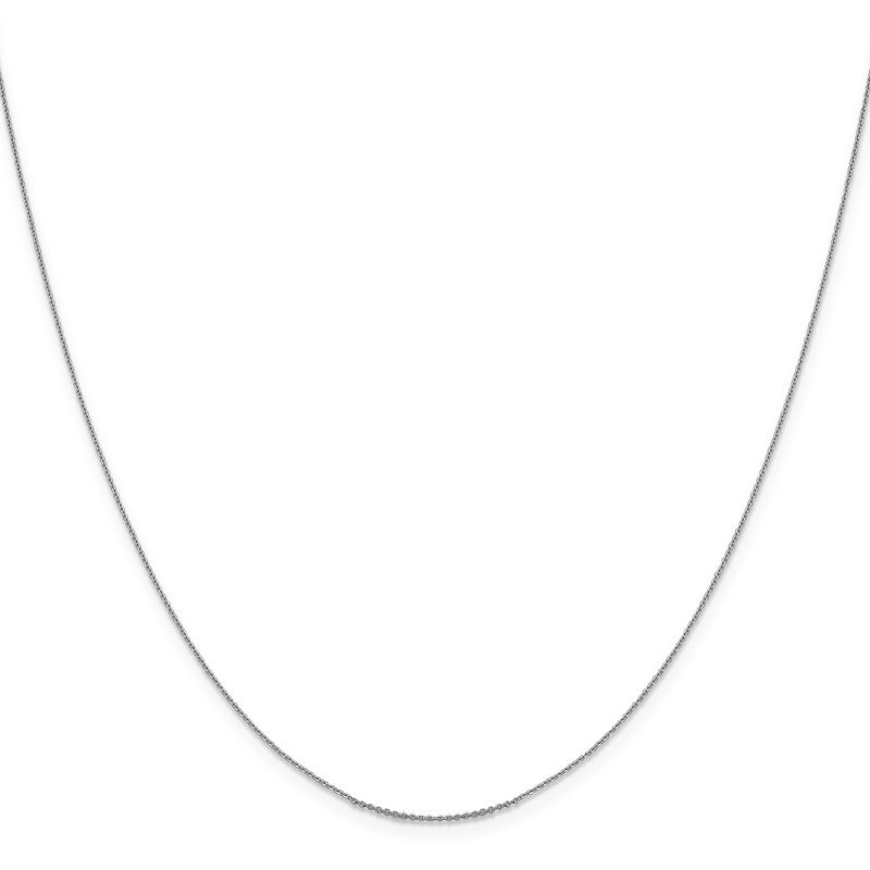 Leslie's Leslie's 14K White Gold .80 mm D/C Cable Chain
