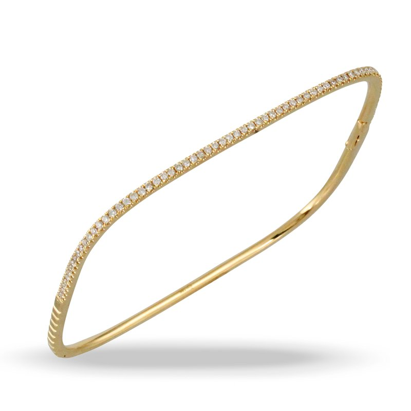 Doves Square Diamond Bangle