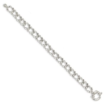 Sterling Silver Polished Link Bracelet