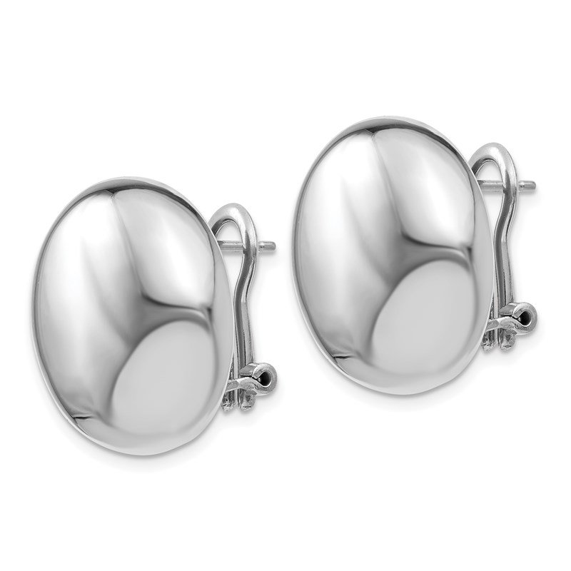 Leslie's Leslie's Sterling Silver Polished Omega Back Post Earrings