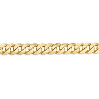 14k 9.5mm Flat Beveled Curb Chain