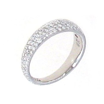 Ring With Diamonds &Ndash; 18K White Gold, 6.5