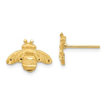 14K D/C Bee Post Earrings
