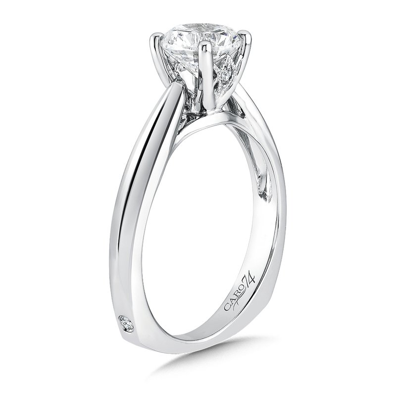 Caro74 Solitaire Engagement Ring in 14K White Gold with Platinum Head (1ct. tw.)