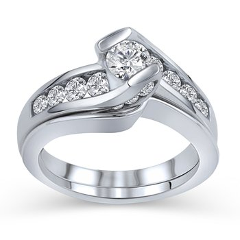 1ctw Engagement ring with matching band