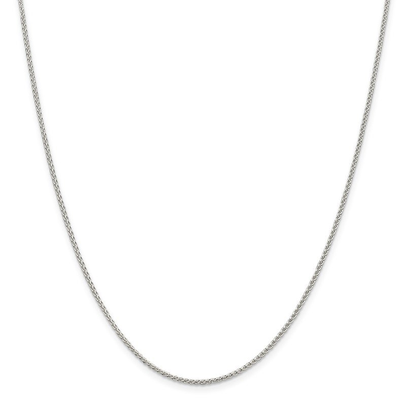 Quality Gold Sterling Silver Rhodium-plated 1.5mm Round Spiga Chain