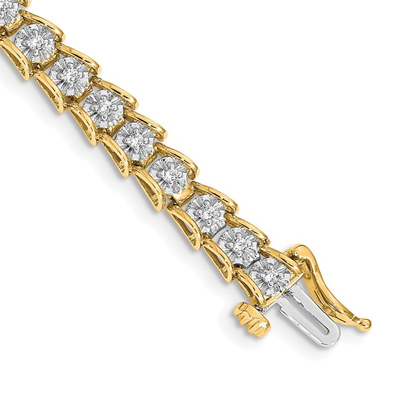 Quality Gold 14k White Gold Diamond Fancy Bracelet