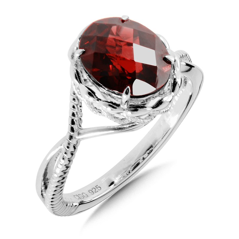 Colore Sg Sterling Silver Garnet Ring