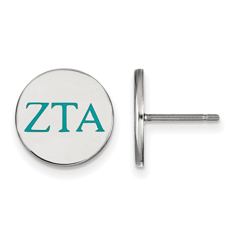 Greek Life Sterling Silver Zeta Tau Alpha Greek Life Earrings