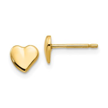14K Heart Earrings
