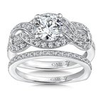 Caro74 Diamond Engagement Ring Mounting in 14K White Gold with Platinum Head (.45 ct. tw.)