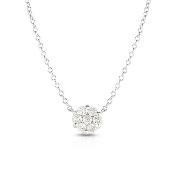 14K Gold .25ct Diamond Cluster Necklace