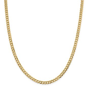 14k 4.7mm Lightweight Flat Cuban Chain