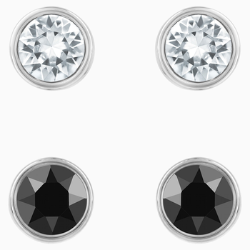 Harley Pierced Earring Set, Black, Ruthenium plated