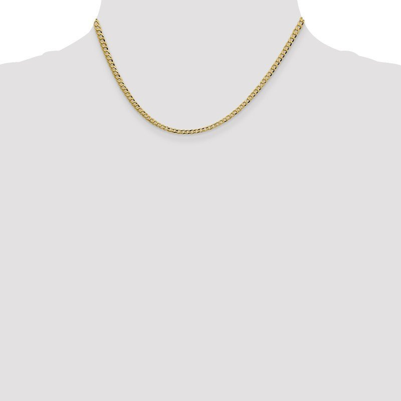 Quality Gold 14k 3.1mm Lightweight Flat Cuban Chain