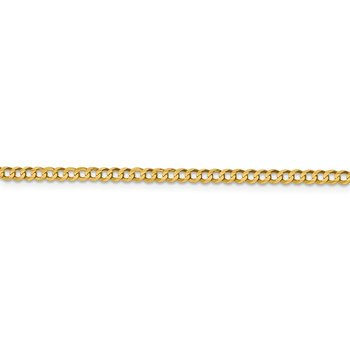 14k 3.1mm Lightweight Flat Cuban Chain