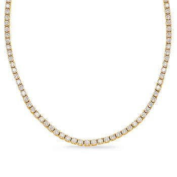 Yellow Gold Four Prong Necklace
