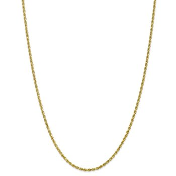 Leslie's 10K 2.5mm Diamond-Cut Rope Chain