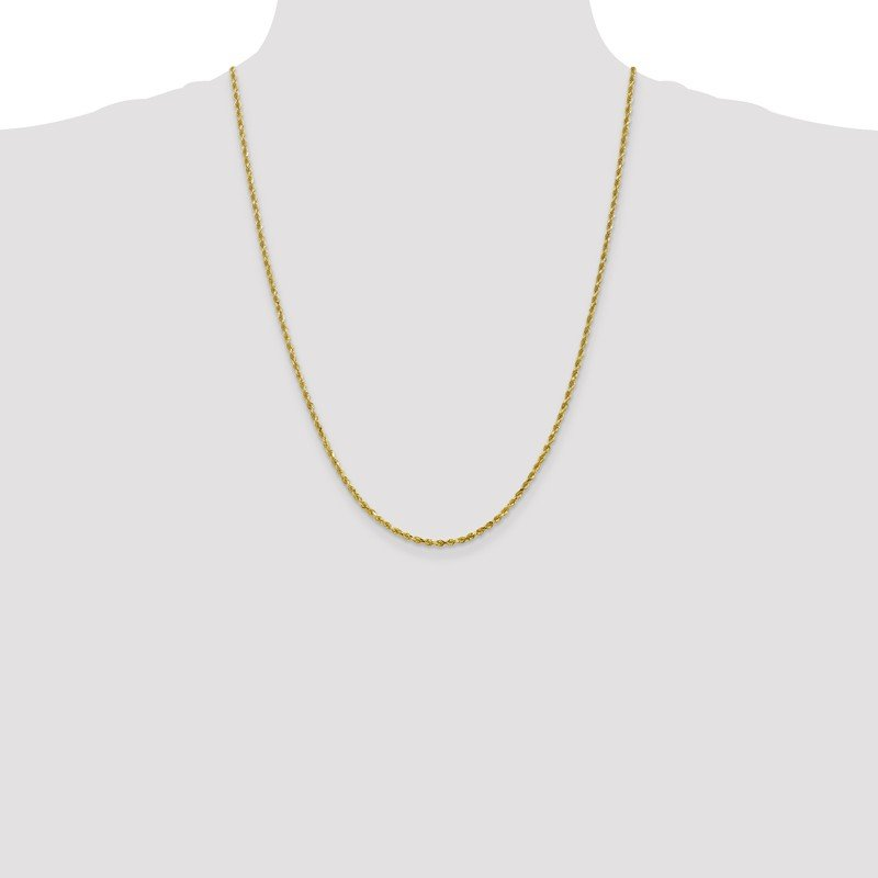Leslie's Leslie's 10K 2.5mm Diamond-Cut Rope Chain