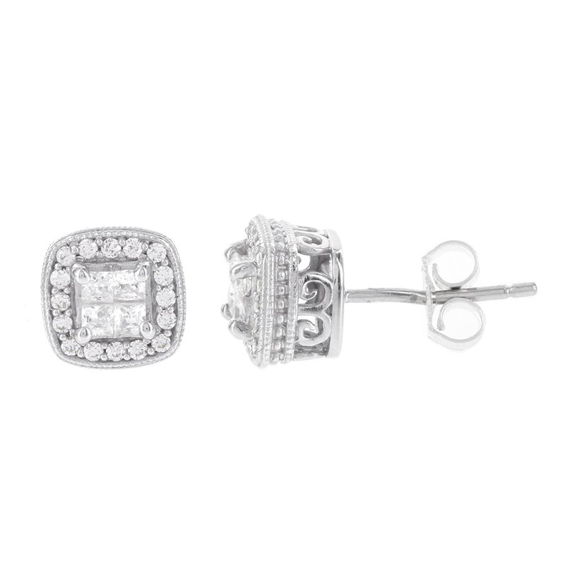 cd09af3bfeb94 Moody's Jewelry: Moody's Signature Sterling Silver 1/2ct Princess ...