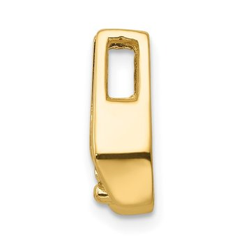 14k 4.75mm AA Diamond Slide