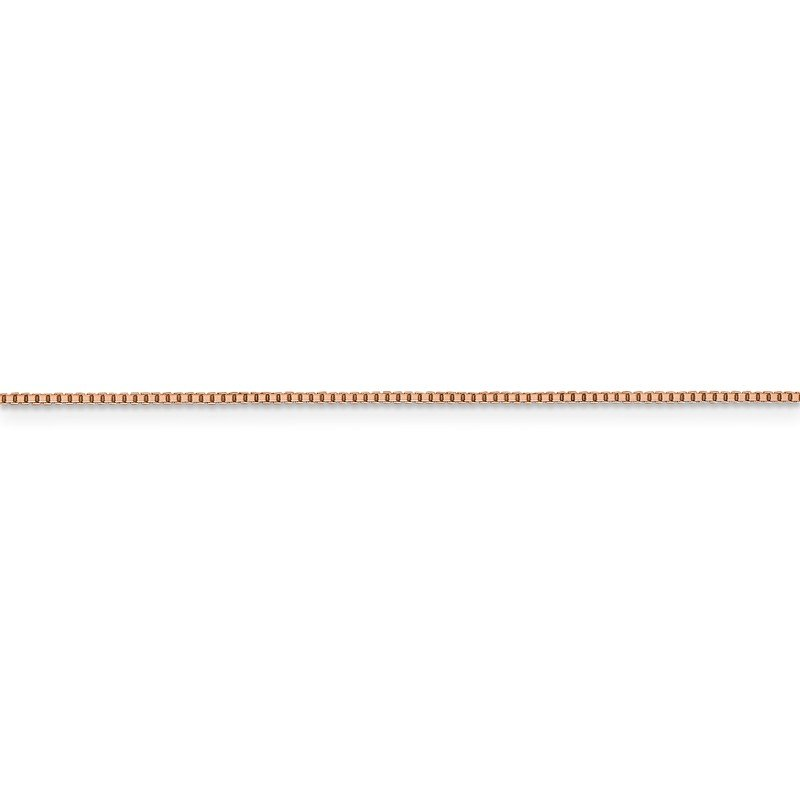 Leslie's Leslie's 14K Rose Gold 1 mm Oct. Sparkle Box Chain