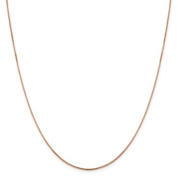 Leslie's 14K Rose Gold 1mm Sparkle Octagonal Box Chain
