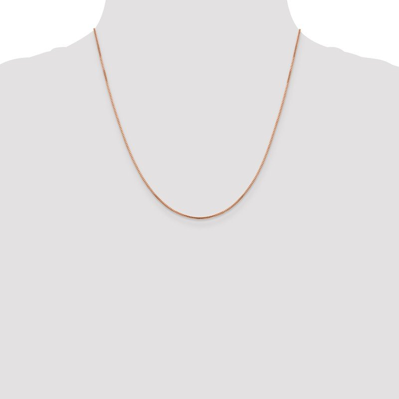Leslie's Leslie's 14K Rose Gold 1mm Sparkle Octagonal Box Chain