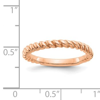 14k Rose Gold Polished Twisted Band