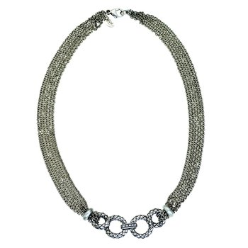 Multi Chain Traversa Necklace
