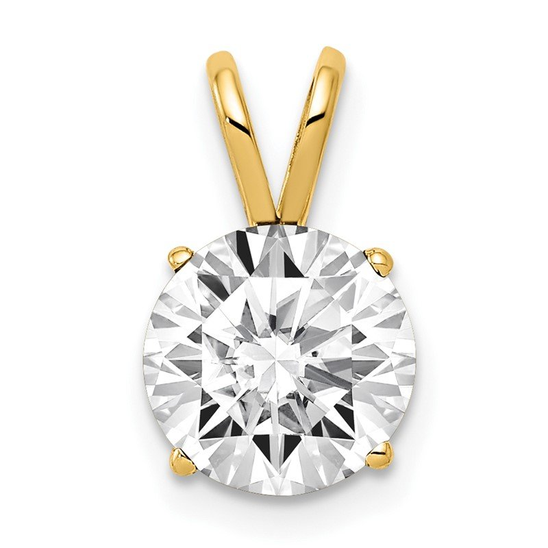 Quality Gold 14k 8mm Cubic Zirconia pendant