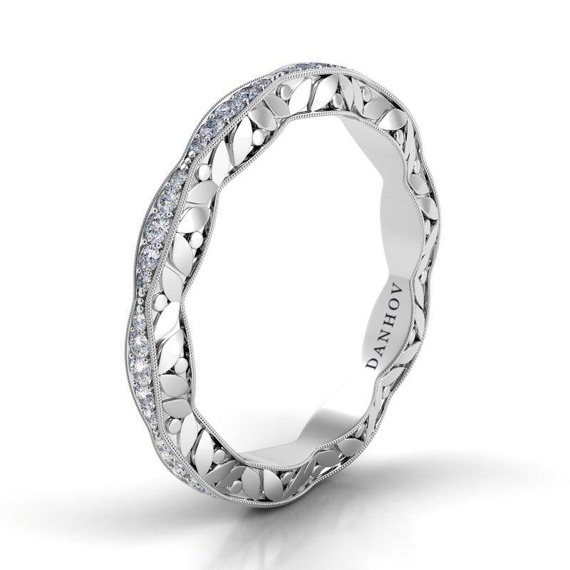 Billig Jewelers Danhov Petalo Round Diamond Band