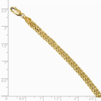 Leslie's 14K 4.5mm Wide Diamond-Cut Triple Rope Chain