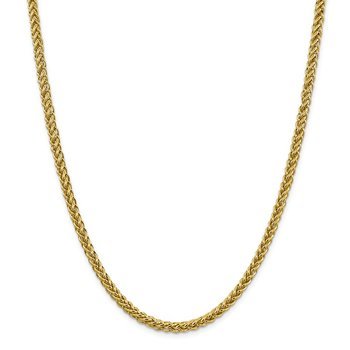 14k 4.65mm Semi-solid 3-Wire Wheat Chain