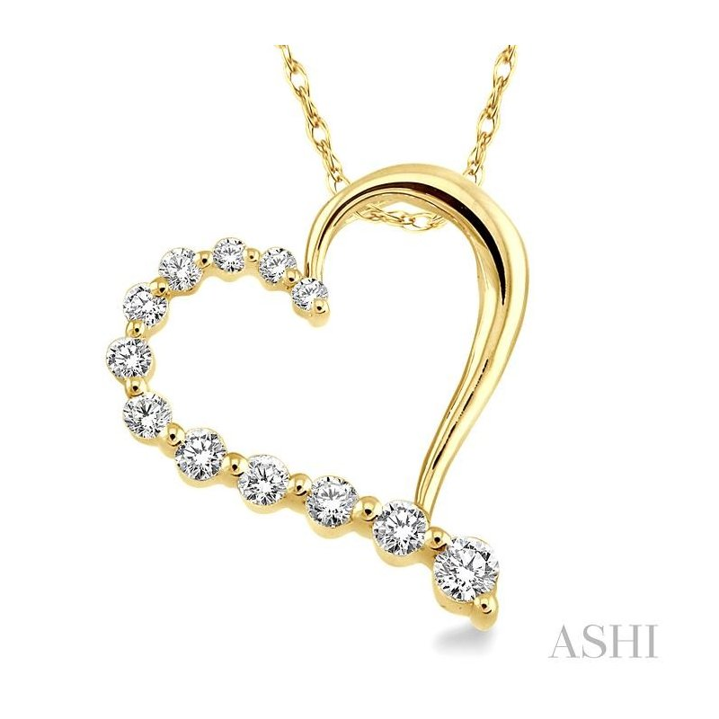 Barclay's Signature Collection HALF JOURNEY DIAMOND HEART SHAPE PENDANT