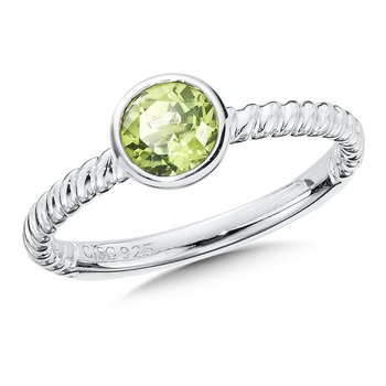 Sterling Silver Peridot Stacking Ring