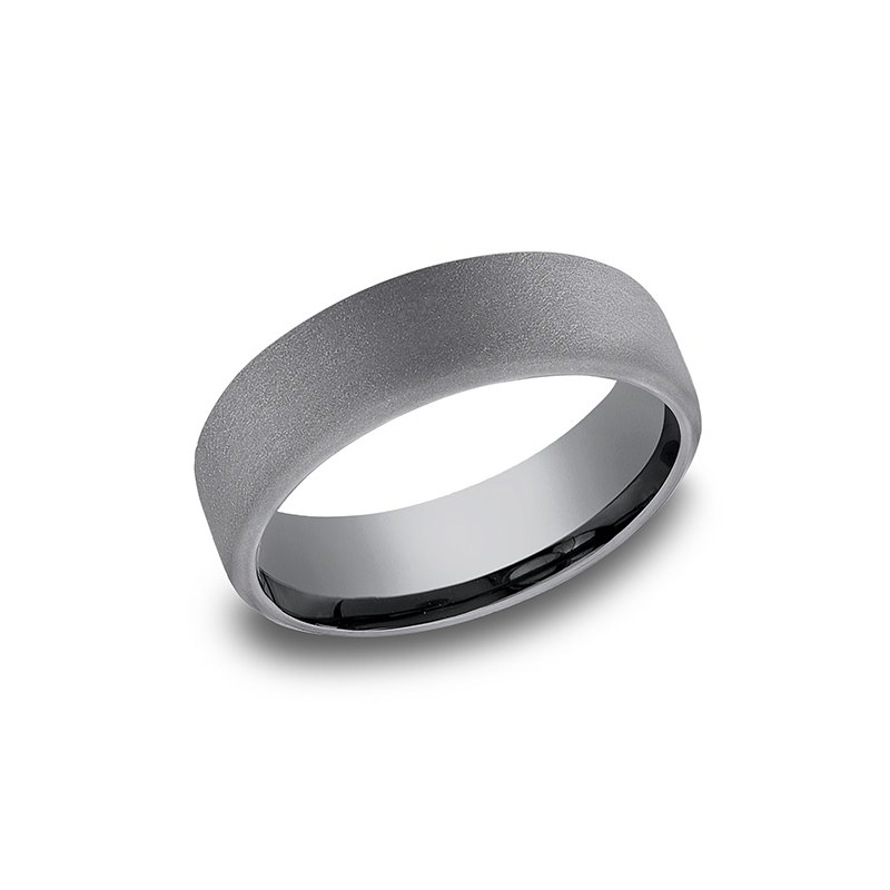 Grey  Comfort-fit wedding band