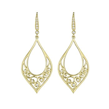 Open Tear Drop Kingdom Earrings