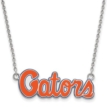 Sterling Silver University of Florida NCAA Necklace